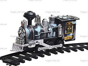 Железная дорога «Военный паровоз», 12689, детские игрушки