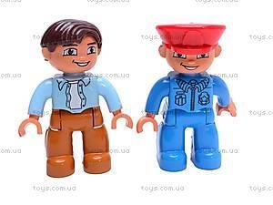 Железная дорога-конструктор с человечками, 9166B, игрушки