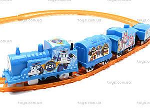 Детская железная дорога «Робокар Поли», 7010L, игрушки
