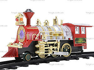 Железная дорога с музыкальным и световым эффектом, 129, детские игрушки