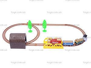Железная дорога с поездом, 3 вагона, 5