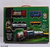 Железная дорога с поездом и три вагона, 2207, фото