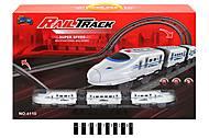 """Железная дорога """"Rail Track"""", 28 элементов + поезд, 4110, фото"""