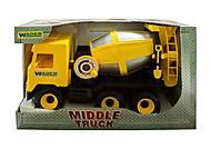 Желтая бетономешалка Middle Truck, 39493