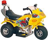 Желтый электромобиль в форме мотоцикла, T-721 YELLOW, фото