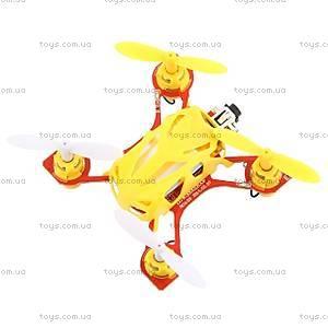 Желтый нано квадрокоптер Velocity, WL-V272y