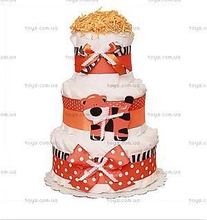 Торт из памперсов Jungle tiger, PPC20