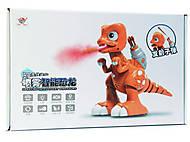 Динозавр р/у 33см музыка, свет, ходит, стреляет пулями, дым, FK603A