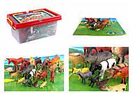 Животные 22 домашних животных + игровое поле в боксе , H6600