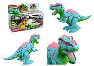 Игрушка динозавр, со звуком и светом, 3835