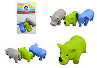 Животные-пищалки для ванной «Африка», 58003