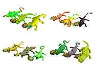 Животные резиновые Рептилии, 30 см , 7207, купить