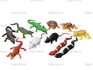 Набор игрушек-тянучек «Животные и рептилии», A043P, toys
