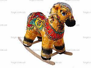 Качалка-лошадь «Лошадь Огонь», желтая, 40050-6, фото