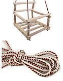 Качель деревянная «Карпаты», 171887, toys.com.ua
