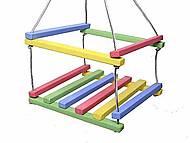 Качель деревянная цветная для детей, K-2K