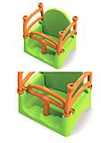 Качель детская зеленая Фламинго, 01521, фото