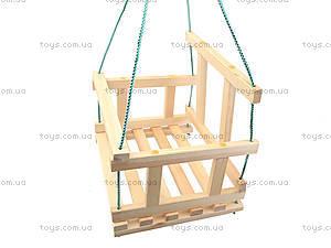 Качель деревянная детская, КАЧ005, детские игрушки