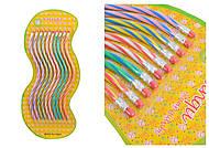 """Карандаш графитовый HB гнущийся с резинкой """"Спираль"""" (10 штук в упаковке), 920-10, іграшки"""