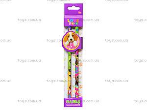 Набор карандашей шестигранных Pets, 280236, фото