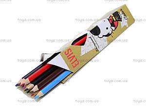 Карандаши цветные, 12 штук, HKAB-US1-3P-12, отзывы