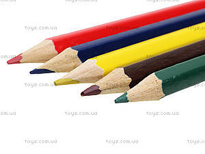 Карандаши цветные, 6 штук, PRAB-US1-1P-6, фото