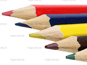 Карандаши цветные, 6 штук, PRAB-US1-1P-6, игрушки