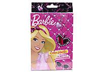 Карандаши цветные «Барби», 18 штук, BRAB-US1-3P-18, фото
