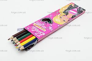 Карандаши цветные «Барби», 6 штук, BRAB-US1-1P-6, фото