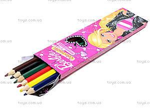 Карандаши цветные «Барби», 6 штук, BRAB-US1-1P-6, цена
