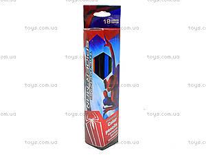 Карандаши цветные «Человек-Паук», 18 штук, SM4U-12S-1P-18