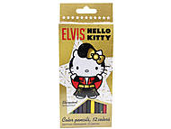 Карандаши цветные «Hello Kitty Elvis», HKAP-US1-1P-12, купить