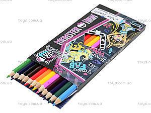 Карандаши цветные «Монстер Хай», 12 штук, , отзывы