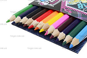 Карандаши цветные «Монстер Хай», 12 штук, , цена