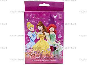 Карандаши цветные «Принцессы Дисней», PRBB-US1-1P-18, отзывы