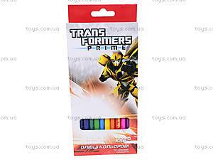 Карандаши цветные Transformers, 12 шту, TF13-053K