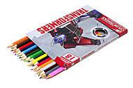Карандаши цветные «Transformers», 18 штук, TRBB-US1-P-18, купить