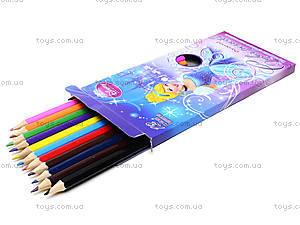 Карандаши цветные заточенные, 12 штук, CIAB-US1-P-12, игрушки