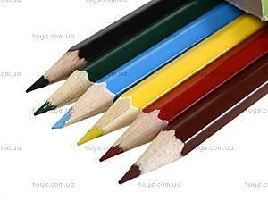 Набор цветных карандашей, 6 цветов, 290233, купить