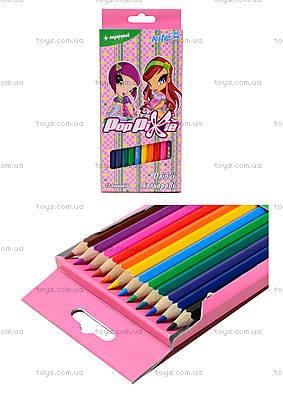 Цветные карандаши Pop Pixie, 12 штук, PP13-051K