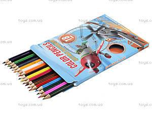 Набор цветных карандашей «Летачки», 18 штук, PLBB-US1-1P-18, фото