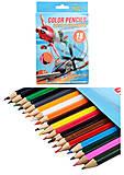 Набор цветных карандашей «Летачки», 18 штук, PLBB-US1-1P-18