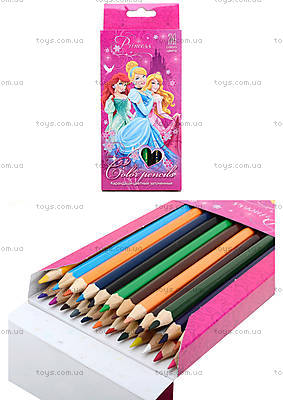 Цветные карандаши «Принцессы», 24 штуки, PRBB-US1-1P-24