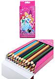 Цветные карандаши «Принцессы», 24 штуки, PRBB-US1-1P-24, фото