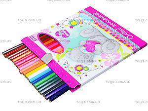 Карандаши цветные, 24 штуки, 290245, купить