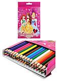 Цветные карандаши «Принцессы», 36 штук, PRBB-US1-1P-36, фото