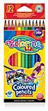 Карандаши цветные акварельные с кисточкой 12 цветов Colorino, 33039PTR, магазин игрушек