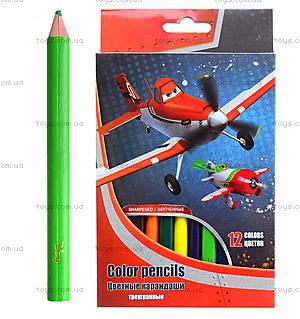 Карандаши цветные для детей, 12 штук, PLAB-US1-8P-12