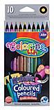 Карандаши цветные Metallic 10 цветов Colorino, 34678PTR, опт
