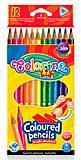Карандаши цветные треугольные 12 цветов Colorino, 51798PTR